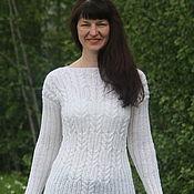 Одежда ручной работы. Ярмарка Мастеров - ручная работа Свитер Белые косы. Handmade.