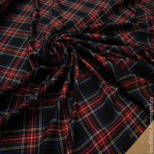 плательно-костюмная ткань стиль MOSCHINO , Италия шерсть 100% шир. 154 см , клетка 18х20 см цена 2850р средней толщины, упругая, переплетение в малозаметный косой рубчик, не мнется, ручная стирк
