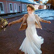 Свадебный салон ручной работы. Ярмарка Мастеров - ручная работа Свадебное платье в бохо-стиле для Алены. Handmade.