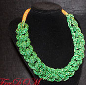 Украшения handmade. Livemaster - original item Winter braids 2. A set of beads.. Handmade.