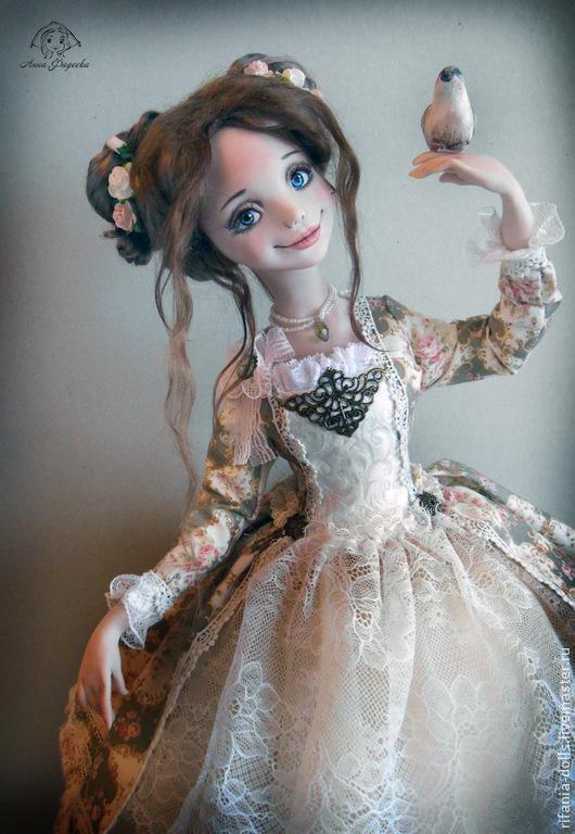 Коллекционные куклы ручной работы. Ярмарка Мастеров - ручная работа. Купить Амели. Handmade. Кремовый, оригинальный подарок, волокна шёлка