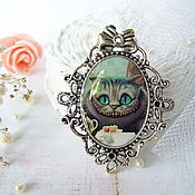 Украшения handmade. Livemaster - original item Vintage Brooch Cheshire cat Alice in Wonderland. Handmade.