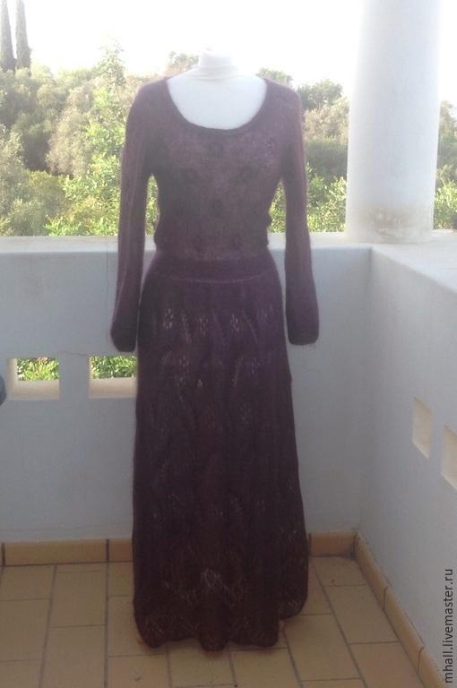 Платья ручной работы. Ярмарка Мастеров - ручная работа. Купить Фея Черной Смородины - ажурное платье из кид-мохера. Handmade.