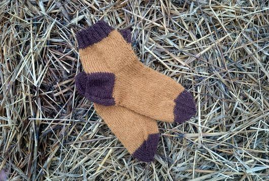 """Носки, Чулки ручной работы. Ярмарка Мастеров - ручная работа. Купить Носочки """"Уютная осень"""". Handmade. Рыжий, шерсть, носки"""