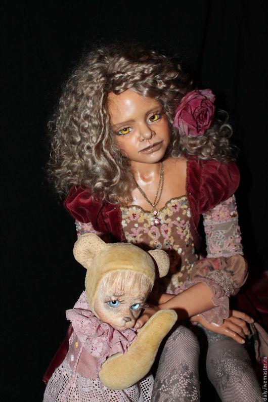 """Коллекционные куклы ручной работы. Ярмарка Мастеров - ручная работа. Купить """"Куда уходит детство"""". Handmade. Комбинированный, мишка тедди"""