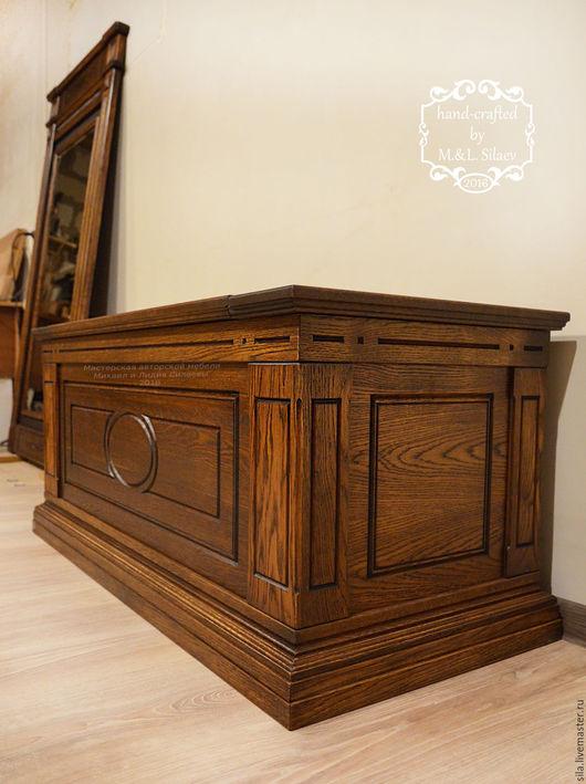 Большой сундук деревянный для приданного из массива дуба. Дубовый сундук. Сундук из дерева. Деревянный сундук. Авторская мебель. Мебель из массива. Деревянная мебель. Мебель из дуба. Дубовая мебель.