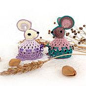 handmade. Livemaster - original item Fishnet mice! (set - 2 PCs.). Handmade.