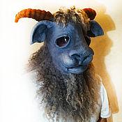 """Одежда ручной работы. Ярмарка Мастеров - ручная работа 3D маска """"Серенький козлик"""". Handmade."""
