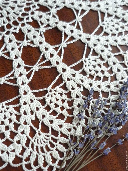 """Текстиль, ковры ручной работы. Ярмарка Мастеров - ручная работа. Купить Салфетка вязаная крючком """"Нежность"""" ажурная салфетка. Handmade."""