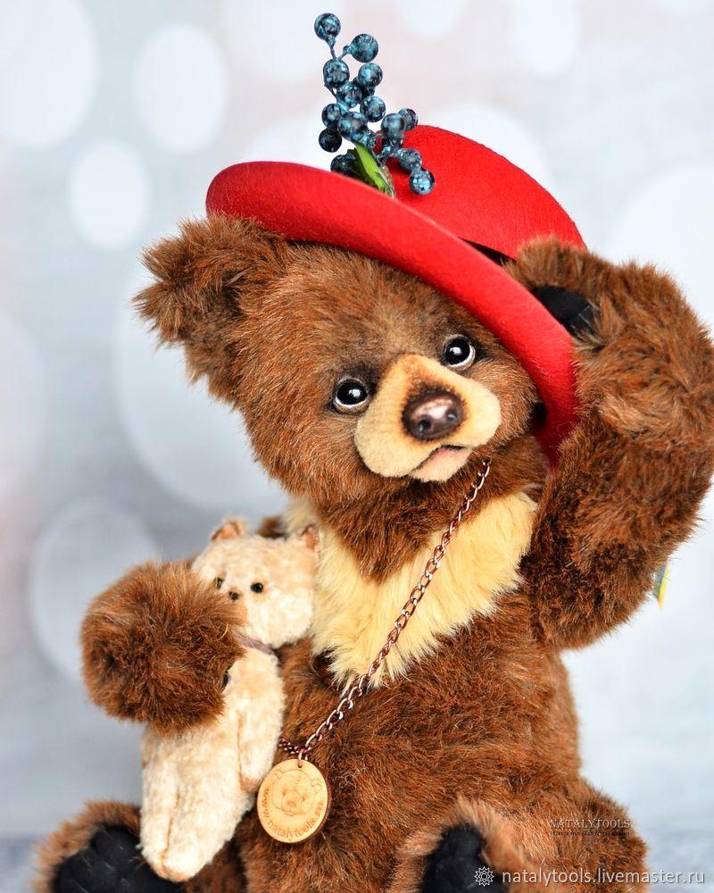 Big teddy bear Oscar 16 in (40 cm) collectible bear – shop ...
