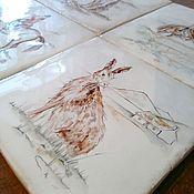 Для дома и интерьера ручной работы. Ярмарка Мастеров - ручная работа Изразцы Охота. Handmade.