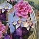 Интерьерные композиции ручной работы. Букет с ирисами и орхидеями в фоторамке. Гаяне Шахпарян. Ярмарка Мастеров. Подарок женщине, свадебные аксессуары