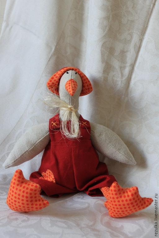 Куклы Тильды ручной работы. Ярмарка Мастеров - ручная работа. Купить Тильда - Гусь. Handmade. Гусь Тильда, тильда гусь