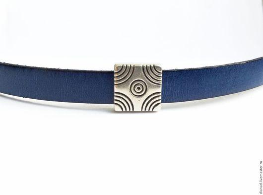 Для украшений ручной работы. Ярмарка Мастеров - ручная работа. Купить Бусина квадратная для плоского шнура 10х2мм, Испания. Handmade.