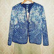 """Одежда ручной работы. Ярмарка Мастеров - ручная работа Жакет в технике""""синель"""" раз. 48. Handmade."""