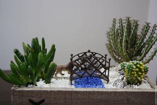 """Интерьерные композиции ручной работы. Ярмарка Мастеров - ручная работа. Купить """"Охота"""" Минисадик. Handmade. Комбинированный, живые растения"""