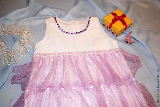 Одежда для девочек, ручной работы. Ярмарка Мастеров - ручная работа. Купить Жемчужная сирень. Handmade. Сиреневый, праздничное платье