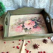 Для дома и интерьера handmade. Livemaster - original item Tray Pink morning. Handmade.