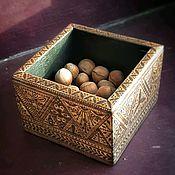 Короб ручной работы. Ярмарка Мастеров - ручная работа Деревянная коробочка Мехенди. Handmade.