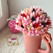 Композиции ручной работы. Ярмарка Мастеров - ручная работа Керамическое кашпо с сухоцветами. Handmade.