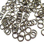 Материалы для творчества handmade. Livemaster - original item Connecting ring 7 mm bronze, 10 pcs.. Handmade.