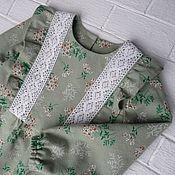 Платья ручной работы. Ярмарка Мастеров - ручная работа Платье детское с оборками. Handmade.