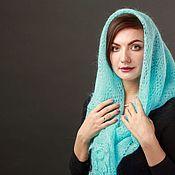 Аксессуары handmade. Livemaster - original item Down scarf turquoise. Handmade.