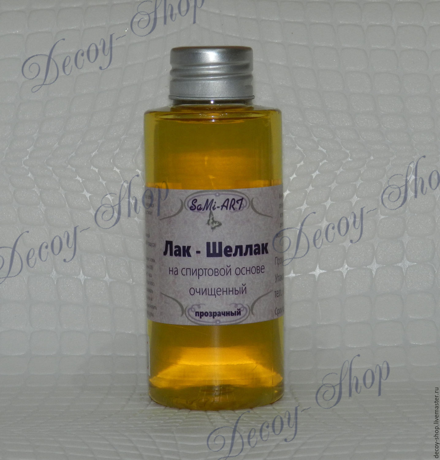 Lacquer - Shellac (purified) alcohol-based 100 ml.