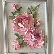 Картины и панно ручной работы. Ярмарка Мастеров - ручная работа Панно декоративные Розы шебби. Handmade.