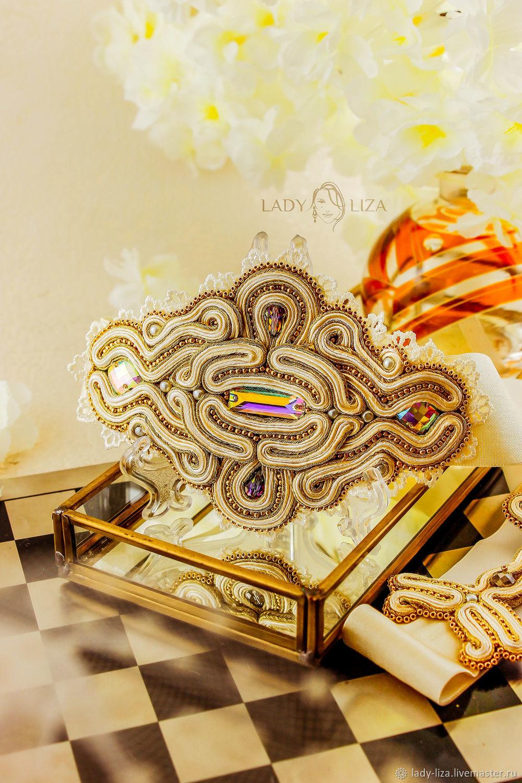 Soutache elastic belt Wedding. belt beaded. Bead embroidery, Belt, Armavir,  Фото №1