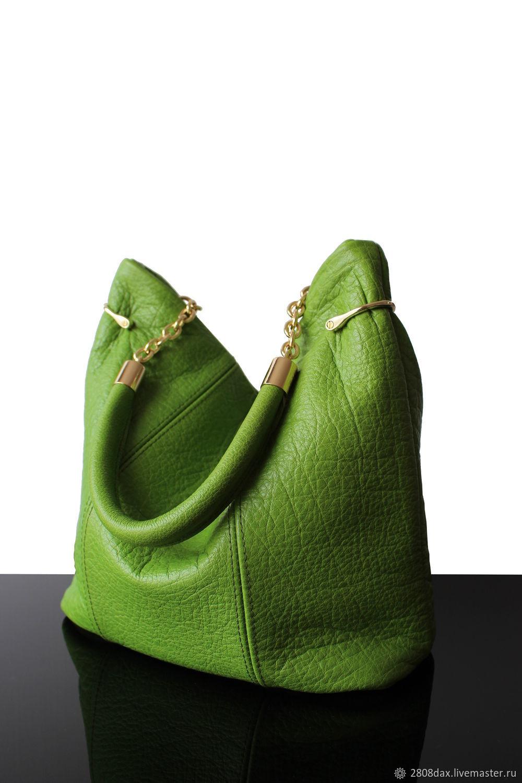"""Женские сумки ручной работы. Ярмарка Мастеров - ручная работа. Купить """"Pomme vert"""" Кожаная женская сумка, зеленая сумка. Handmade."""