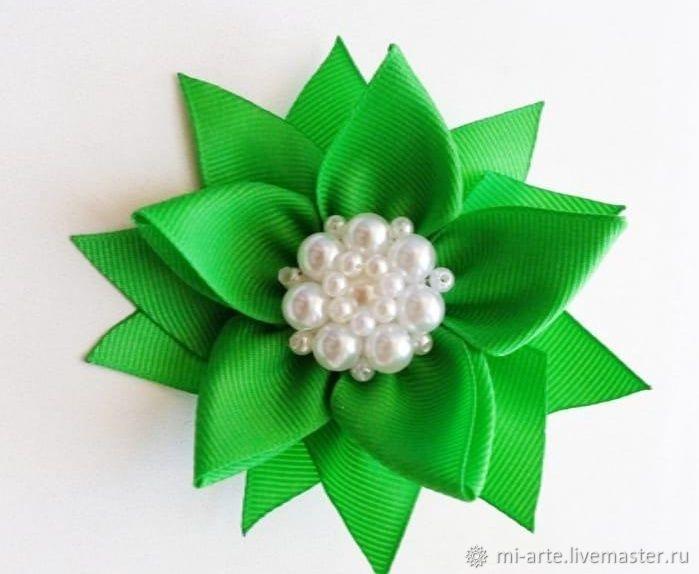 Зеленый бантик на резинке, Украшения, Тюмень, Фото №1