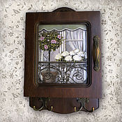 Для дома и интерьера ручной работы. Ярмарка Мастеров - ручная работа Ключница  Белая гортензия. Handmade.