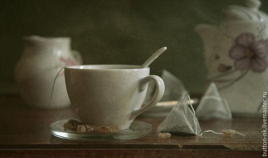 Фотокартины ручной работы. Ярмарка Мастеров - ручная работа. Купить Натюрморт Чай в пирамидках. Handmade. Белый, бледно-розовый, чай