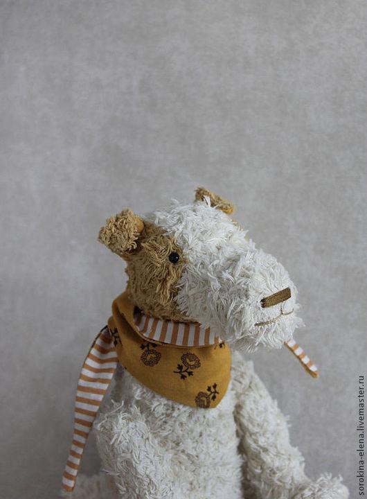 Мишки Тедди ручной работы. Ярмарка Мастеров - ручная работа. Купить Фокстерьер  Грегори. Handmade. Белый, авторская игрушка, щенок