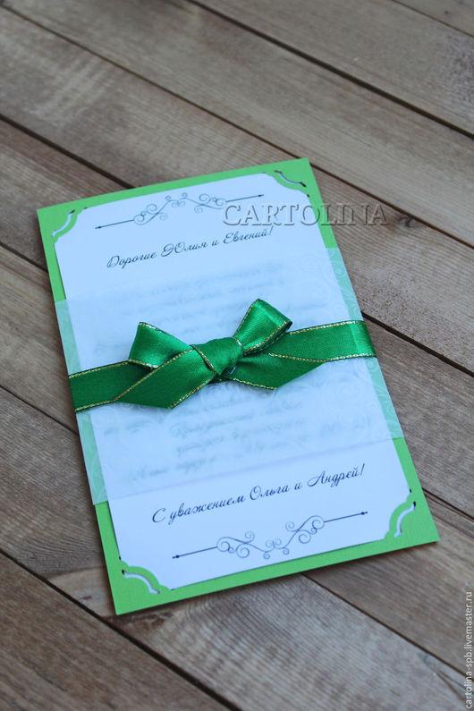 Пригласительные ручной работы. Ярмарка Мастеров - ручная работа. Купить Приглашение на свадьбу с калькой. Handmade. Комбинированный, яркий, бумага для печати