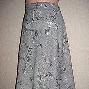 """Одежда ручной работы. Ярмарка Мастеров - ручная работа Длинная юбка """"Морозный узор"""". Handmade."""