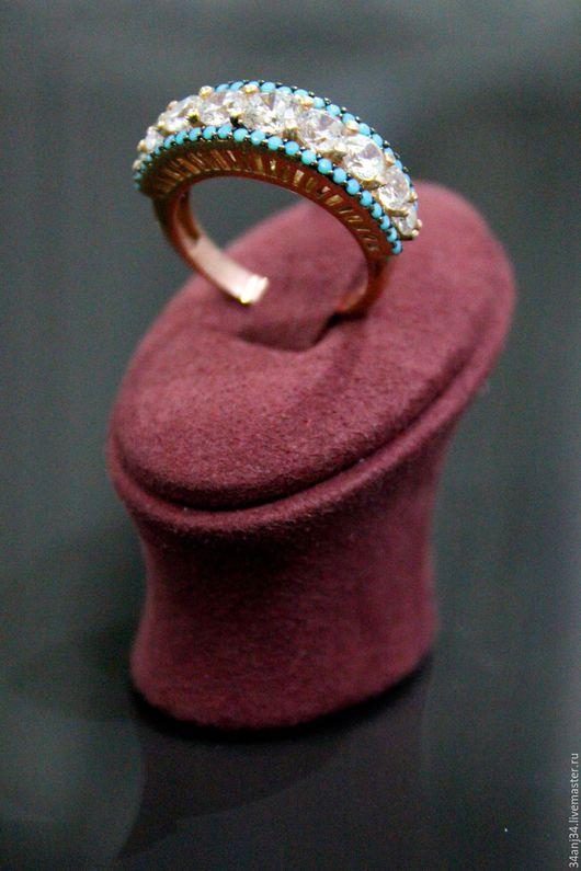 """Кольца ручной работы. Ярмарка Мастеров - ручная работа. Купить Кольцо """" Ариэль """". Handmade. Бирюзовый, позолоченное серебро"""