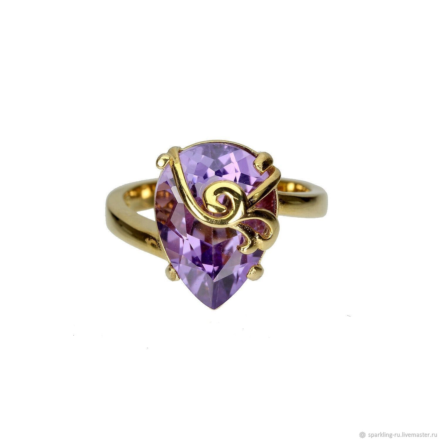 Silver ring with amethyst, p. .16, Rings, Moscow,  Фото №1