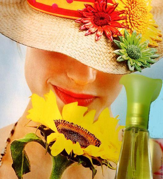 """Натуральные духи ручной работы. Ярмарка Мастеров - ручная работа. Купить Духи """"Утомленная солнцем"""". Handmade. Желтый, духи для лета"""