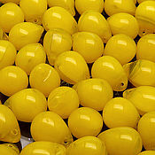 Материалы для творчества handmade. Livemaster - original item Bead Czech glass drop art. 11-23 to , yellow opal. Handmade.