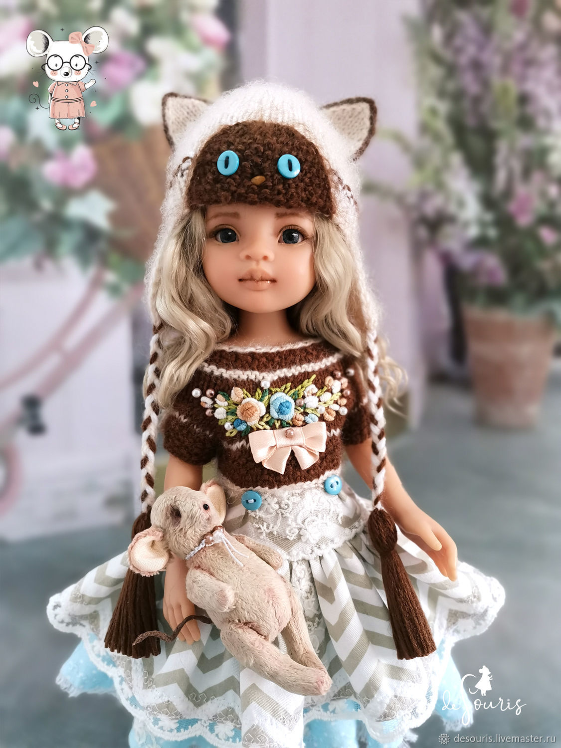 Clothes for Paola Reina dolls. A set of 'Siamese cat', Clothes for dolls, Voronezh,  Фото №1