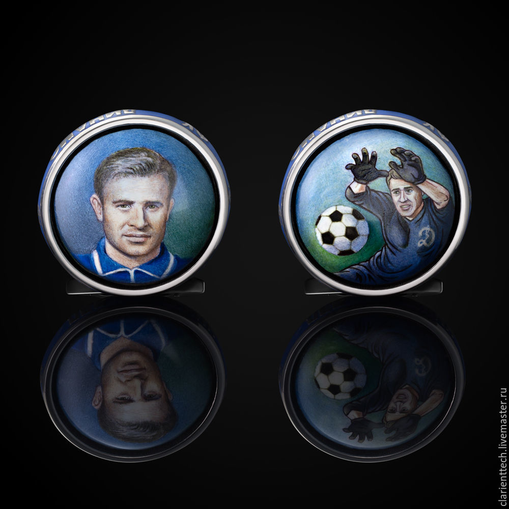 Cufflinks Lev Yashin, Cuff Links, Moscow,  Фото №1
