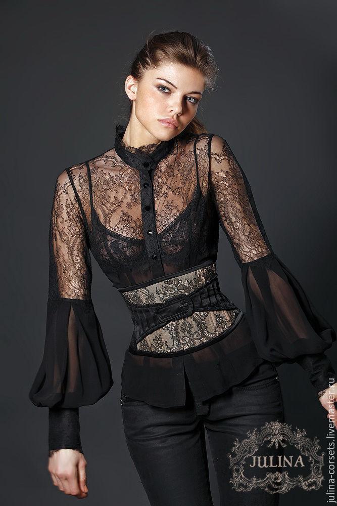 Кружевные Черные Блузки Купить