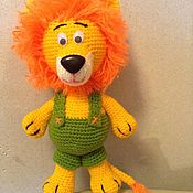 Мягкие игрушки ручной работы. Ярмарка Мастеров - ручная работа Мохнатый лев. Handmade.