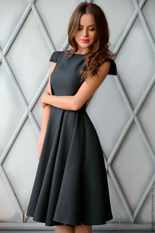 Платья ручной работы. Ярмарка Мастеров - ручная работа. Купить Платье. Handmade. Черный, платье миди, платье коктейльное