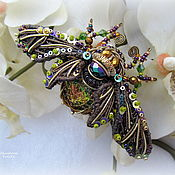 """Украшения ручной работы. Ярмарка Мастеров - ручная работа """"Cicada"""" Брошь. Handmade."""