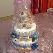 Подарки к праздникам ручной работы. Ярмарка Мастеров - ручная работа Торт из памперсов. Handmade.