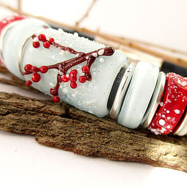 """Украшения ручной работы. Ярмарка Мастеров - ручная работа Браслет Regaliz """"Морозная ягода"""". Handmade."""