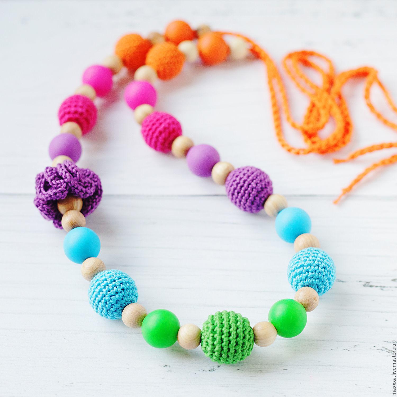 Rainbow slingobusy with silicone, bound with juniper beads, Slingbus, Ryazan,  Фото №1